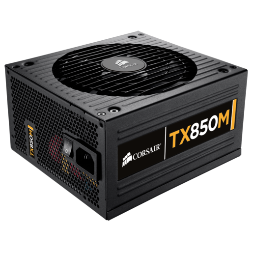 TX Series™ Modular TX850M — 80 PLUS® Bronze Certified 850 Watt High Performance Modular Power Supply (NA) (Refurbished)