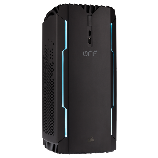 PC compacto para juegos CORSAIR ONE ELITE — Intel Core i7-8700K, NVIDIA GeForce GTX 1080 Ti, DDR4-2666 de 32 GB, SSD DE 1 TB (EU)