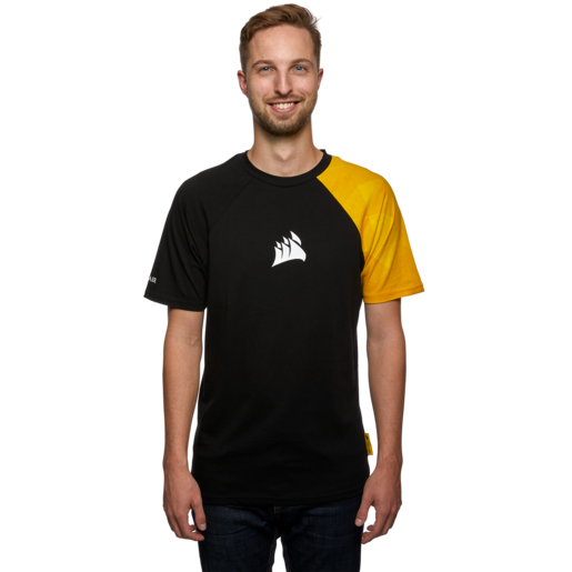 CORSAIR Yellow Edge Graphic Tee — Medium