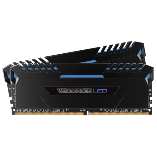 VENGEANCE® LED 32GB (2 x 16GB) DDR4 DRAM 3000MHz C15 Memory Kit - Blue LED