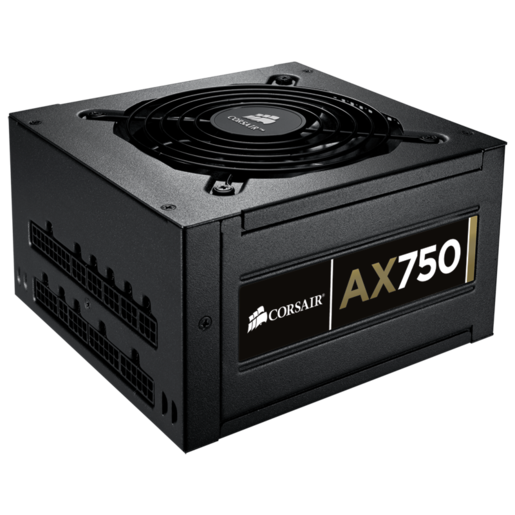 Professional Series™ Gold AX750 — 80 PLUS® Gold Certified Fully-Modular Power Supply