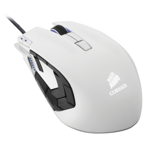 VENGEANCE® M95 Performance MMO and RTS Laser Gaming Mouse — Arctic White