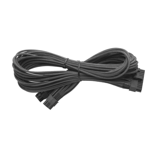 Individually Sleeved 24pin ATX Cable Type 4 (Generation 2), Metallic Graphite