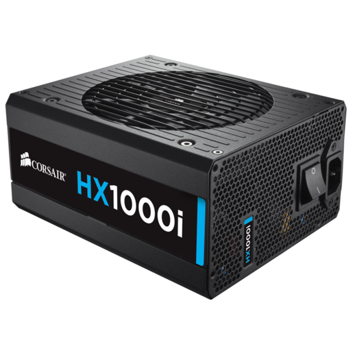 HXi Series™ HX1000i High-Performance ATX Power Supply — 1000 Watt 80 Plus® PLATINUM Certified PSU