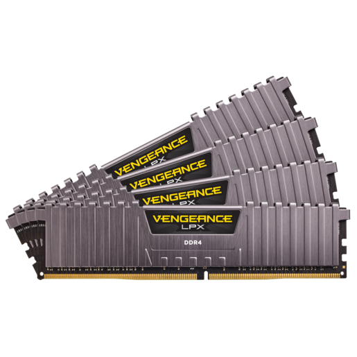 Vengeance® LPX 32GB (4x8GB) DDR4 DRAM 3200MHz C16 Memory Kit – Cool Gray