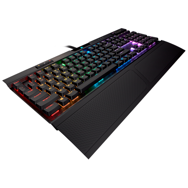 K70 RGB MK.2 Low Profile RAPIDFIRE游戏机械键盘 — CHERRY® MX Low Profile Speed