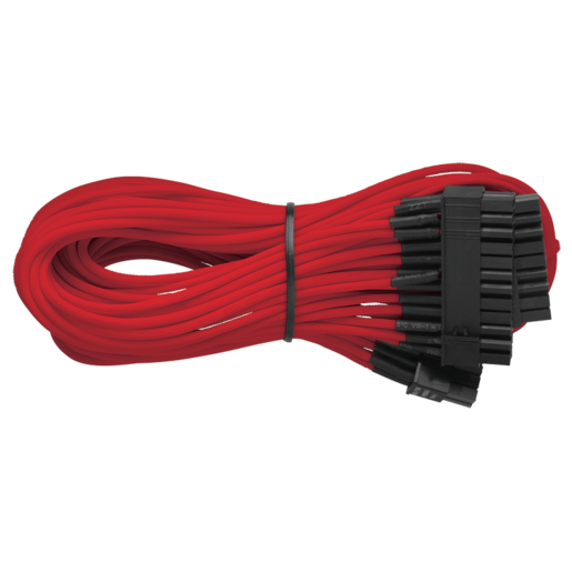 Professional Series™ AX850/AX750/AX650 Individually Sleeved Modular Cables — Red