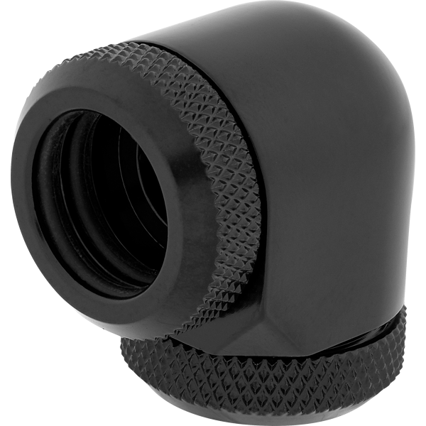 Hydro X Series XF Hardline 90° 14mm OD Fitting Twin Pack — Black