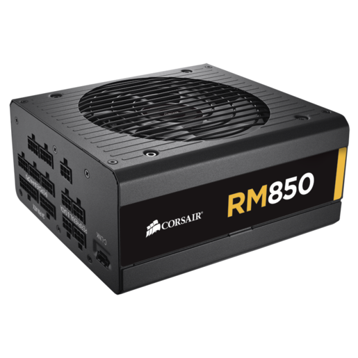 RM Series™ RM850 — 850 Watt 80 PLUS® Gold Certified Fully Modular PSU (UK Plug)
