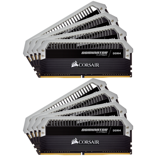 Комплект памяти DOMINATOR® PLATINUM 128 Гб (8 x 16 Гб) DDR4 DRAM 2400 МГц C14