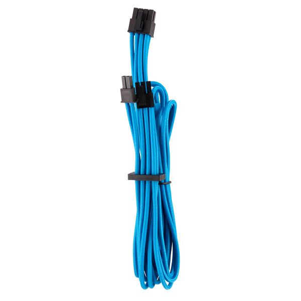 Premium Individually Sleeved PCIe Cables (Single Connector) Type 4 Gen 4 – Blue