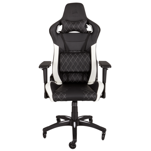 CORSAIR T1 RACE Gaming Chair — Black/White