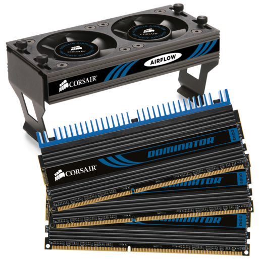 DOMINATOR® with DHX Pro Connector and Airflow II Fan — 16GB Dual Channel DDR3 Memory Kit