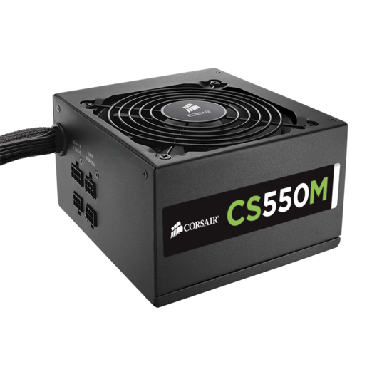 CS Series™ Modular CS550M — 550 Watt 80 PLUS® Gold Certified PSU (Refurbished)