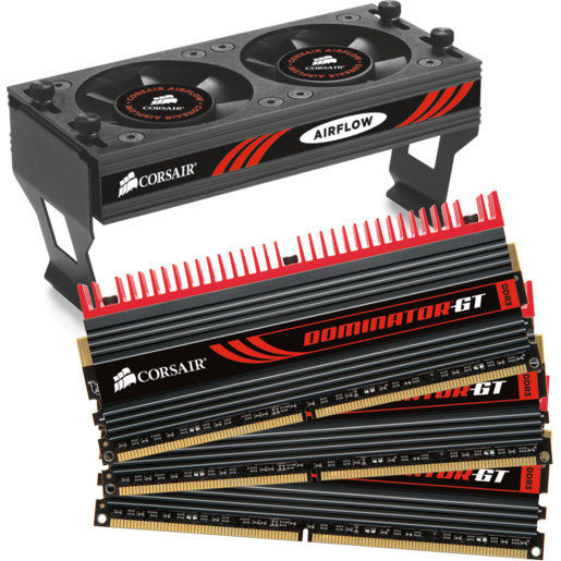 DOMINATOR® GT with DHX Pro Connector and Airflow II Fan — 6GB Triple Channel DDR3 Memory Kit