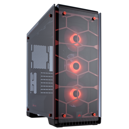 Crystal Series™ 570X RGB ATX Mid-Tower Case — Red