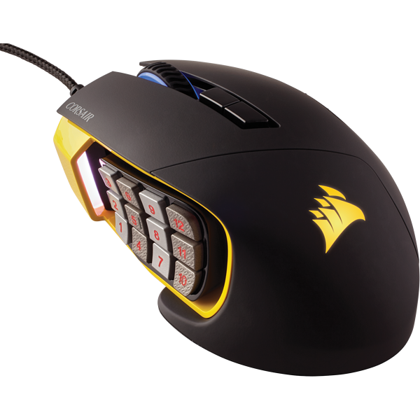SCIMITAR PRO RGB Optical MOBA/MMO Gaming Mouse — Yellow