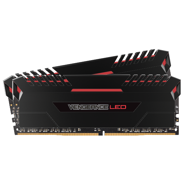 VENGEANCE® LED 16GB (2 x 8GB) DDR4 DRAM 3000MHz C16 Memory Kit - Red LED