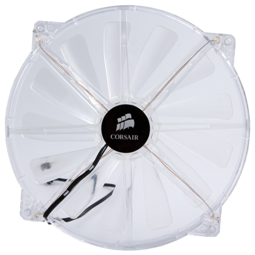 Carbide 500R Case - Side 200mm Fan, Clear with White LEDs