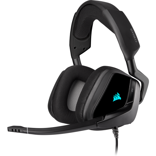 Headset gamer premium com som surround 7.1 VOID RGB ELITE USB, Carbono