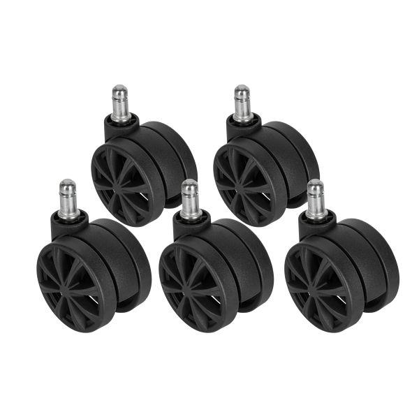 CORSAIR T3 RUSH Dual-Wheel Caster Set (5x), Black