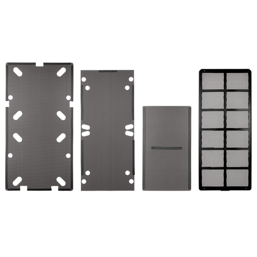 Obsidian Series™ 550D dust filters - bottom, front, top, and side