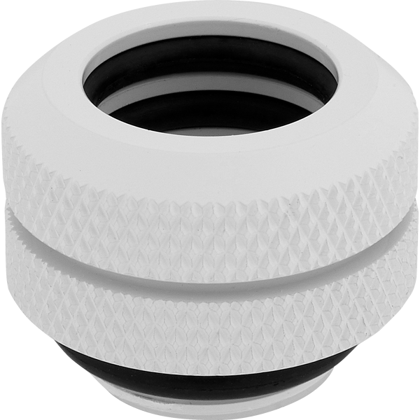 Hydro X Series XF Hardline 12mm OD Fitting Four Pack — White