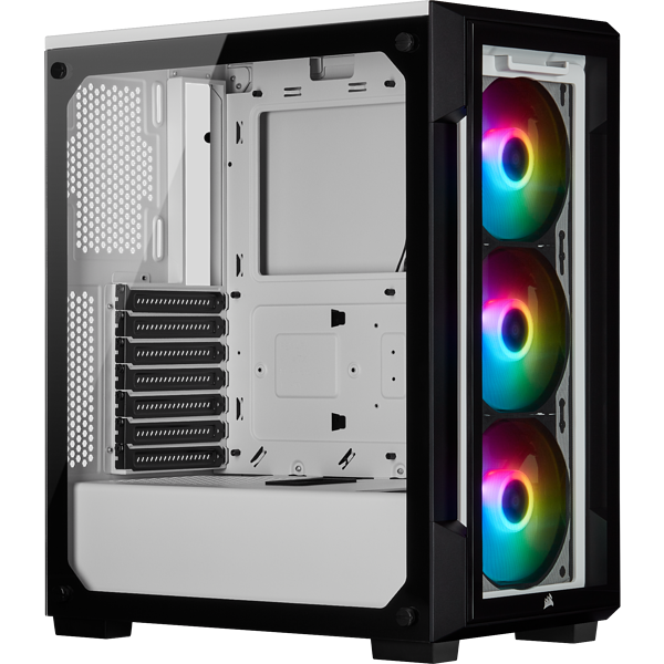 iCUE 220T RGB Tempered Glass Mid-Tower Smart Case — White