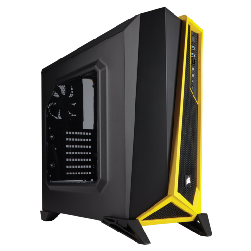 Carbide Series™ SPEC-ALPHA Mid-Tower Gaming Case — Black/Yellow