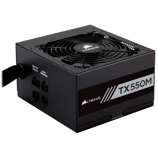 TX-M Series™ TX550M — 550 Watt 80 Plus® Gold Certified PSU