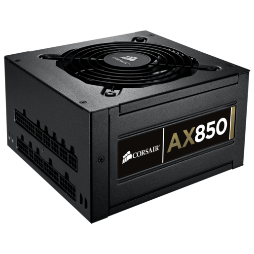 Professional Series™ Gold AX850 — 80 PLUS® Gold Certified Fully-Modular Power Supply