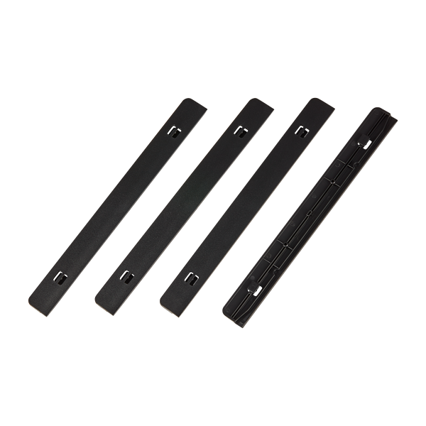 Carbide 678C PSU Dust Filter Rail Guides, Black