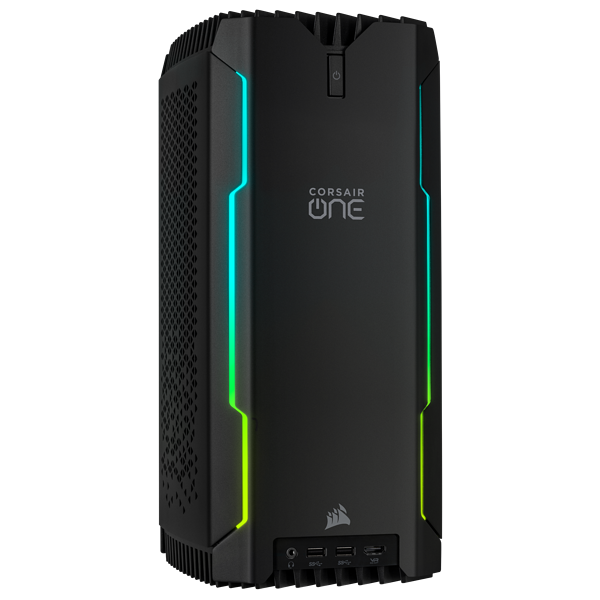 CORSAIR ONE i140 Compact Gaming PC — Intel® Core™ i7-9700K, NVIDIA® GeForce RTX™ 2080, 32GB DDR4-2666, 480GB NVMe M.2 SSD, 2TB HDD