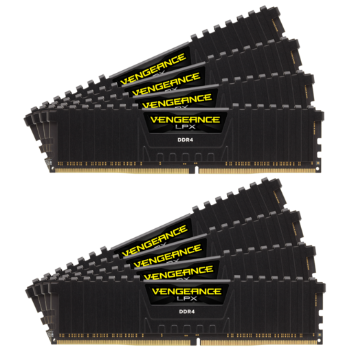 VENGEANCE® LPX 64GB (8 x 8GB) DDR4 DRAM 3800MHz C19 Memory Kit - Black