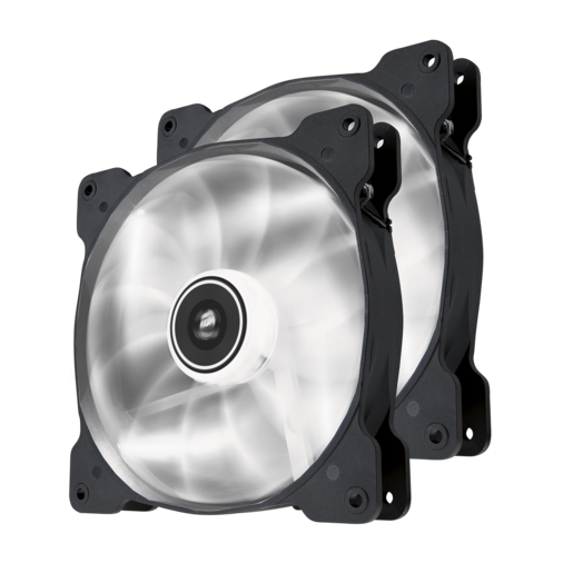 Air Series™ SP140 LED White High Static Pressure 140mm Fan Twin Pack