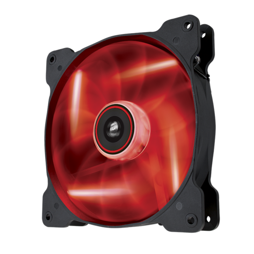 Air Series™ SP140 LED Red High Static Pressure 140mm Fan Twin Pack