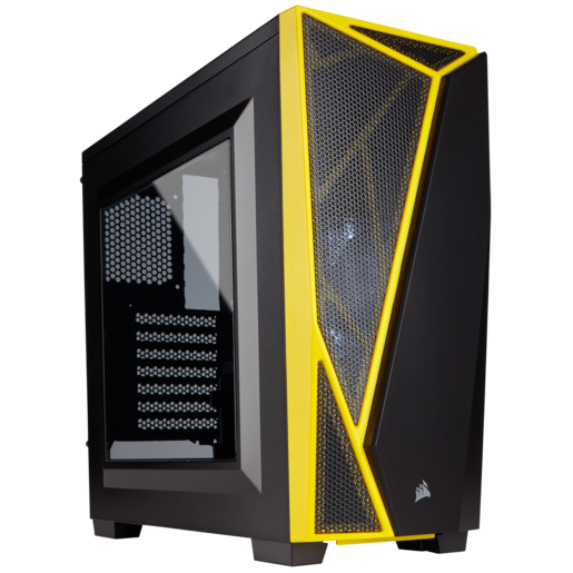 Carbide Series™ SPEC-04 Mid-Tower-Gaming-Gehäuse – Schwarz/Gelb