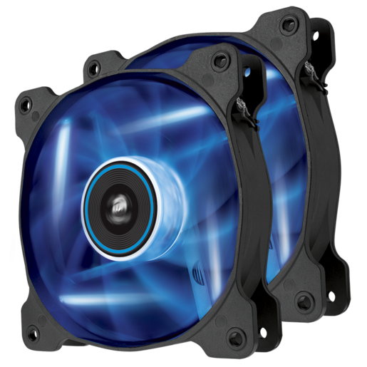 Air Series™ AF120 LED Blue Quiet Edition High Airflow 120mm Fan - Twin Pack