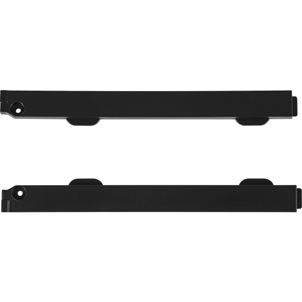 Crystal 680X RGB PSU Filter Rail Guides, Black