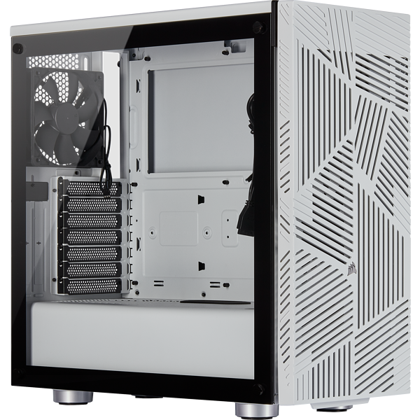 275R Airflow Tempered Glass Mid-Tower Gaming Case — White