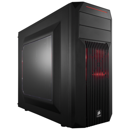 Carbide Series™ SPEC-02 Red LED Mid-Tower Gaming Case