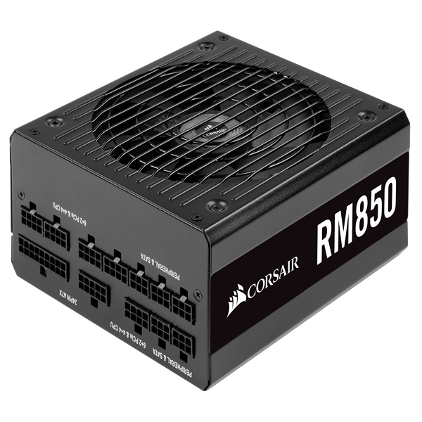 RM Series™ RM850 — 850 Watt 80 PLUS® Gold Certified Fully Modular PSU