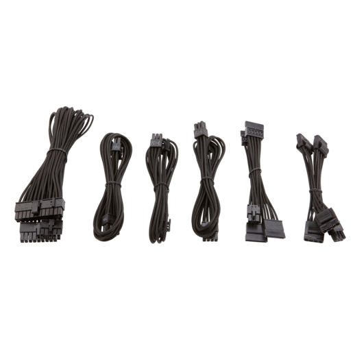 SF Series™ Premium Individually Sleeved PSU Cable Kit - Black