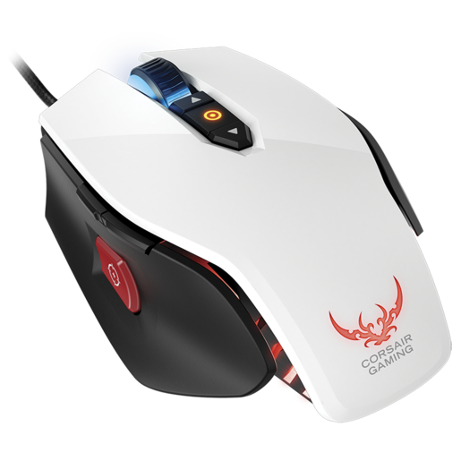 Corsair Gaming M65 RGB Laser Gaming Mouse — White (WW) (Refurbished)