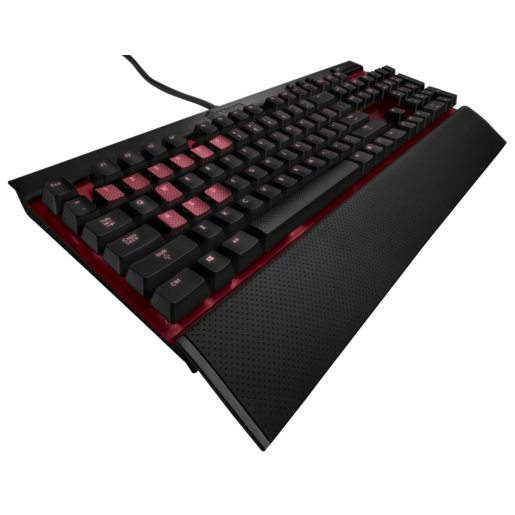 VENGEANCE® K70 Fully Mechanical Gaming Keyboard Anodized Black — CHERRY® MX Blue (UK) (Refurbished)