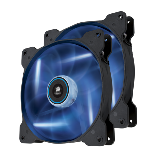 Air Series™ SP140 LED Blue High Static Pressure 140mm Fan Twin Pack