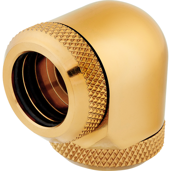 Hydro X Series XF Hardline 90° 14mm OD Fitting Twin Pack — Gold