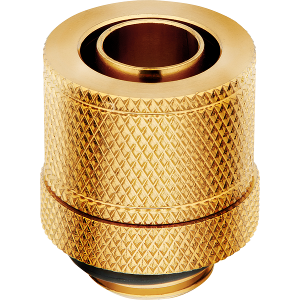 "Hydro X Series XF Compression 10/13mm (3/8"" / 1/2"") ID/OD Fitting Four Pack — Gold"