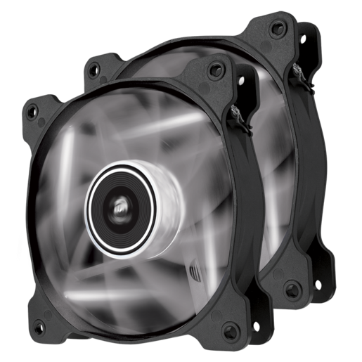 Air Series™ AF120 LED White Quiet Edition High Airflow 120mm Fan - Twin Pack