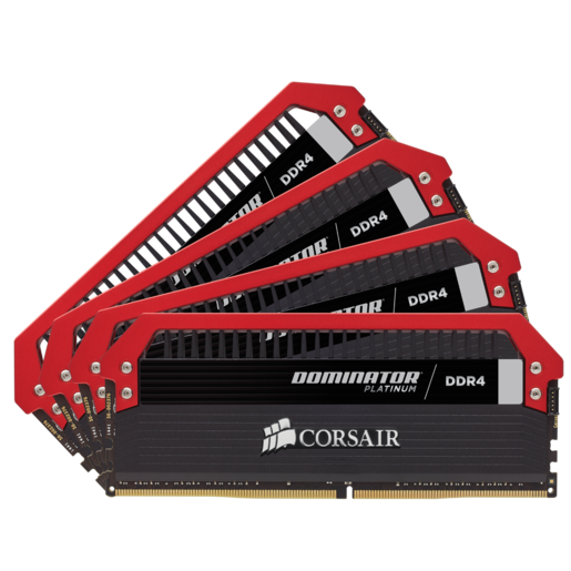 Kit de memória C16 DDR4 DRAM 3200 MHz 16 GB (4 x 4 GB) Dominator® Platinum Series
